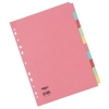 Concord Commercial Subject Dividers 10-Part A4 Assorted Ref 51199