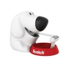 Scotch Magic Tape Dog Dispenser with 1 Roll 19mmx7.5m 810 Tape Ref C31-DOG