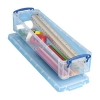 Really Useful Storage Box Plastic Lightweight Robust Stackable 1.5 Litre W100xD355xH70mm Clear Ref 1.5C