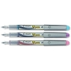 Pilot V4W Fountain Pen Disposable Silver Barrel Iridium Nib Pink Violet Turquoise Ref 633300320 [Pack 3]