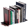 5 Star Bookends Large Metal Black [Pack 2]