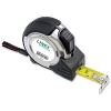 Linex Measuring Tape Steel-cased Polyester-coated Metric and Imperial with Belt Clip 8m Ref LXEPMT8000