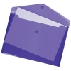 5 Star Envelope Wallet Polypropylene A4 W235mmxD335mm Translucent A4 Purple [Pack 5]