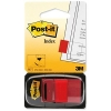 Post-it Index Flags 50 per Pack 25mm Red Ref 680-1 [Pack 12]