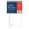 Collins 2018 Personal Diary Refill Day a Page Ref PR2100-18