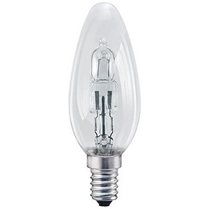 GE Bulb Halogen Eco Candle SES 30W Clear Ref 98392