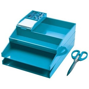 Avery ColorStak Office Desk Set Blue Ref CS502