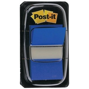 Post-it Index Flags 50 per Pack 25mm Blue Ref 680-2 [Pack 12]