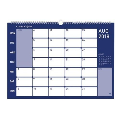 Collins 2018 Colplan Wirebound Memo Calendar Month to View Ref CMC 2018