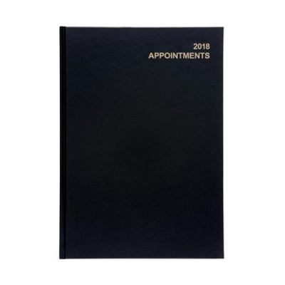 5 Star Office 2018 Appointment Diary Day to A Page A4 Black