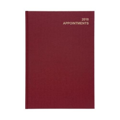 5 Star Office 2018 Appointment Diary Day to a Page A4 Red