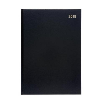 5 Star Office 2018 Diary Day to a Page A4 Black