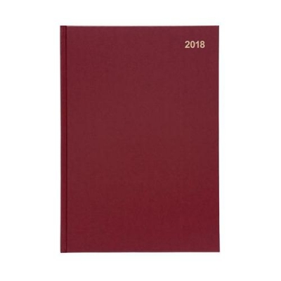 5 Star Office 2018 Diary Week to View Red