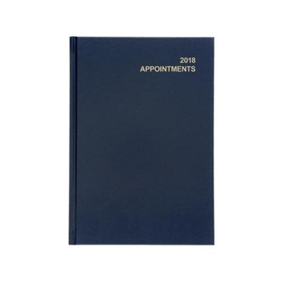 5 Star Office 2018 Appointment Diary Day to Page A5 Blue