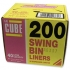 Robinson Young Le Cube Swing Bin Liners 44 Gauge 1140x760mm Ref [Pack 200]