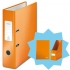 Leitz WOW Lever Arch File A4 Orange [FREE Magazine File and Notebook]