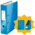 Leitz WOW Lever Arch File A4 Blue [FREE Magazine File and Notebook]