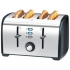Toaster Defrosting Variable Browning 4 Slice 1700W Stainless Steel