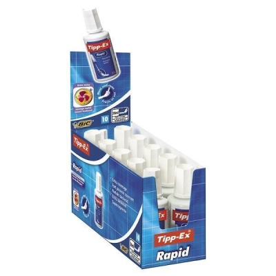 Tipp-Ex Rapid Correction Fluid Fast-drying with Foam Applicator 20ml White Ref 885992 [Pack 10]