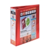 Elba Panorama Leverless Arch Binder PVC 2 Ring Size 40mm Red A4 Ref 400008955 [Pack 5]