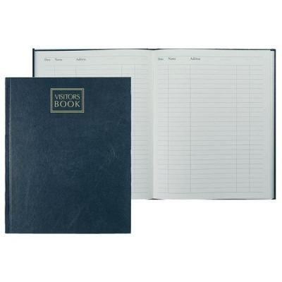 Collins Company Visitors Book 192 Pages 254x203mm Random Colour Ref VB 40
