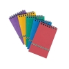 Notepad Wirebound Elasticated Ruled 90gsm 300 Pages 202x127mm Assorted A [Pack 10]