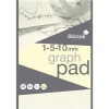 Silvine Designer Graph Pad 85gsm 1mm 5mm 10mm Grid 50 Sheets A4 Cream Wove Ref A4GPIVY