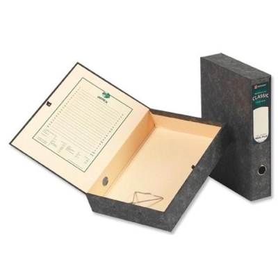 Rexel Classic Box File with Lock Spring Foolscap Plain Ref 30115EAST [Pack 5]