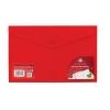 Concord Stud Wallet File Translucent Polypropylene Foolscap Red Ref 7085-PFL [Pack 5]