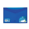 Concord Stud Wallet File Vibrant  Polypropylene Foolscap Blue Ref 7087-PFL [Pack 5]