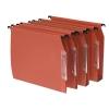 Bantex Linking Lateral File Kraft 220gsm Square-base 50mm Capacity W330mm Orange Ref 100330745 [Pack 25]