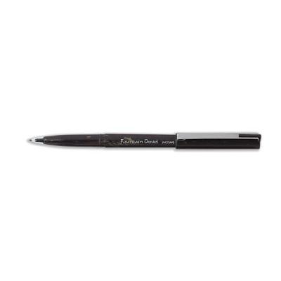 Pentel JM20 Fountain Pen Disposable with Adjusting Nib 0.3-0.4mm Line Black Ref JM20MB-A [Pack 12]