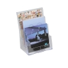 Literature Display Holder Multi Tier for Wall or Desktop 3 x A4 Pockets Clear