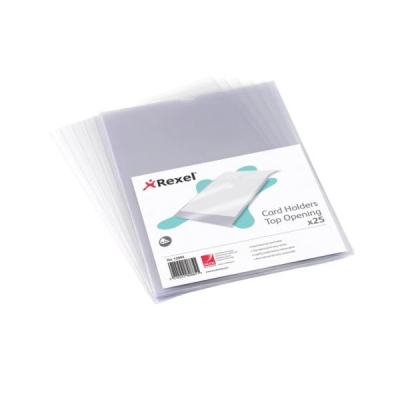 Rexel Card Holder Nyrex Open on Short Edge A4 Ref 12081 [Pack 25]