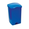 Lift Up Top Bin Composite Plastic 50 Litres Blue