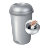 Addis Smart Bin with Lid Capacity 50L Metallic Ref 503579&Lid