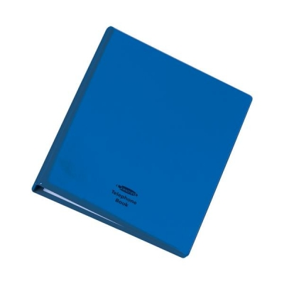 Telephone Index and Address Book Binder with Matching A-Z Index and 20 Sheets A5 Blue
