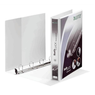 Leitz Softclick Presentation Ring Binder Polypropylene 4 D-Ring 30mm A4 White Ref 020001 [Pack 6]
