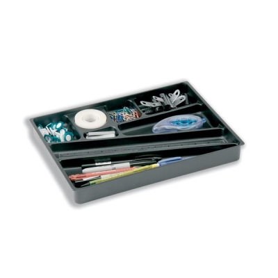 Durable Catch All Insert Drawer Plastic Black Ref 1712004058