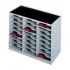 Paperflow Modulodoc Mailsorter Plastic Stackable 24x A4 Compartments W674xD308xH548mm Grey Ref 80202