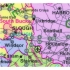Map Marketing Counties Districts Unitary Authorities Map Unframed 12.5 Miles/inch W830xH1200mm Ref BIC