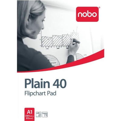 Nobo Flipchart Pad Perforated 70gsm 40 Sheets A1 Plain Ref 34631165 [Pack 5]