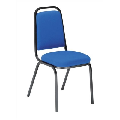 Trexus Banqueting Chair Upholstered Stackable Seat W390xD390xH460mm Blue with Black Frame