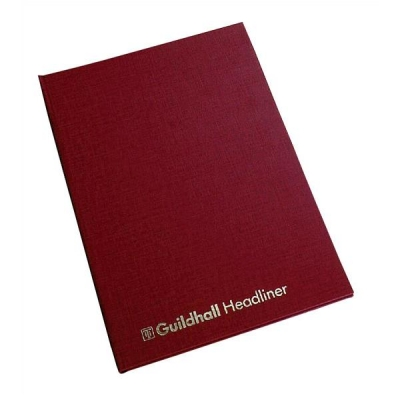Guildhall Headliner Account Book 38 Series 6 Cash Column 80 Pages 298x203mm Ref 38/6Z