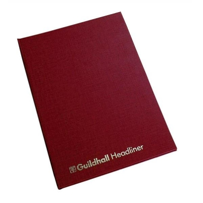 Guildhall Headliner Account Book 38 Series 8 Cash Column 80 Pages 298x203mm Ref 38/8Z