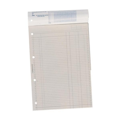 Guildhall Account Pad 2 Cash Column Ruled 41 Feint 4-Hole Punched 60 Leaf A4 Ref GP2