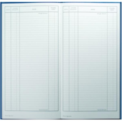 Collins Postage Book 80 Pages 298x152mm Blue Ref 302/2