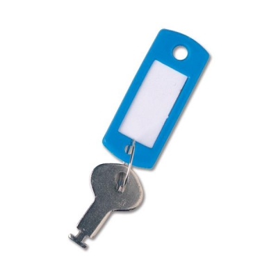 Key Hanger Standard with Fob Blue [Pack 100]