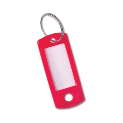 Key Hanger Standard with Fob Red [Pack 100]