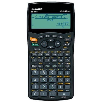Sharp WriteView Calculator Scientific Battery-power 4-line 335 Functions 2-key Rollover Ref ELW531B